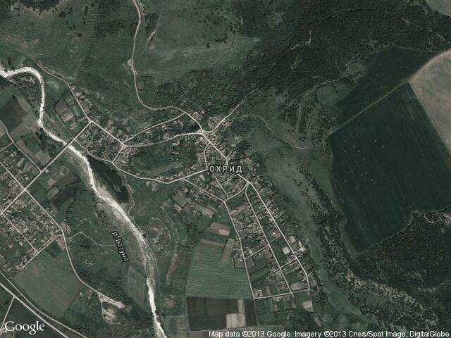 Сателитна карта на Охрид