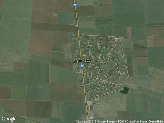 Сателитна карта на Пишурка