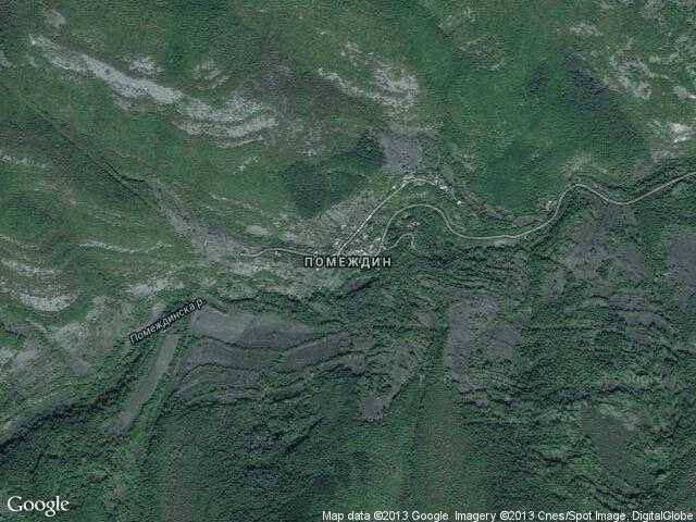 Сателитна карта на Помеждин