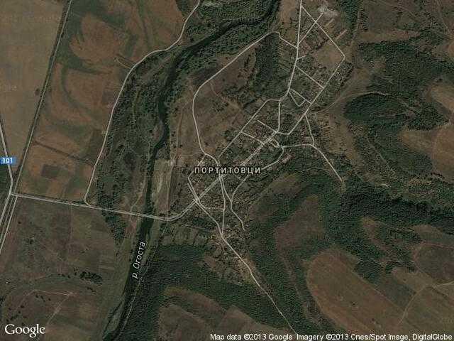 Сателитна карта на Портитовци