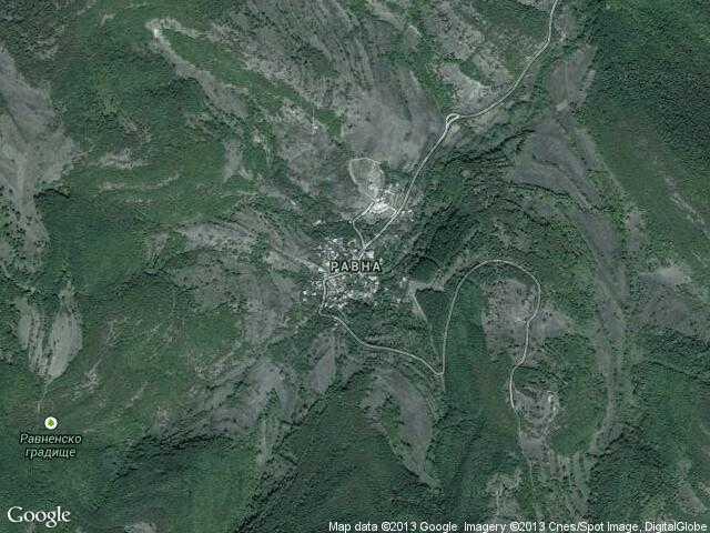 Сателитна карта на Равна