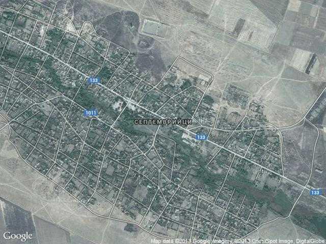 Сателитна карта на Септемврийци
