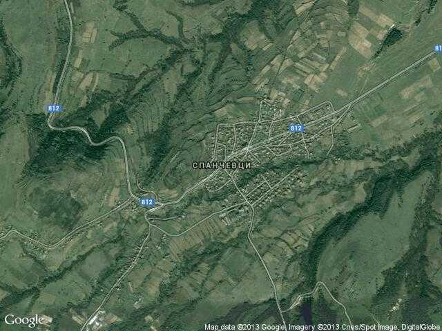Сателитна карта на Спанчевци