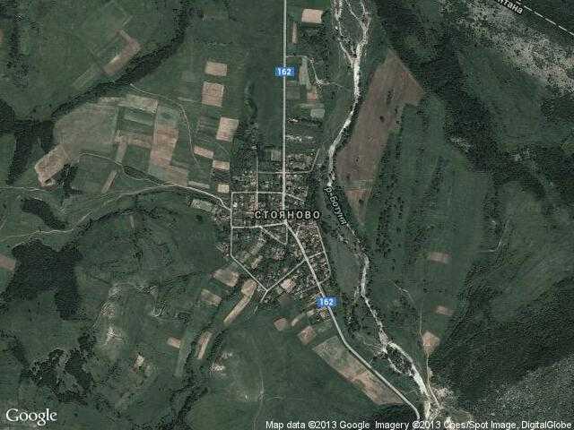 Сателитна карта на Стояново