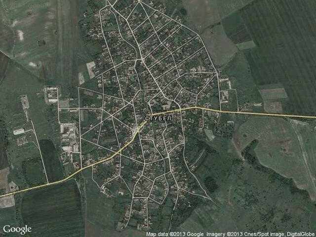 Сателитна карта на Стубел