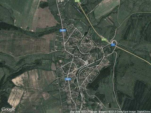 Сателитна карта на Сумер