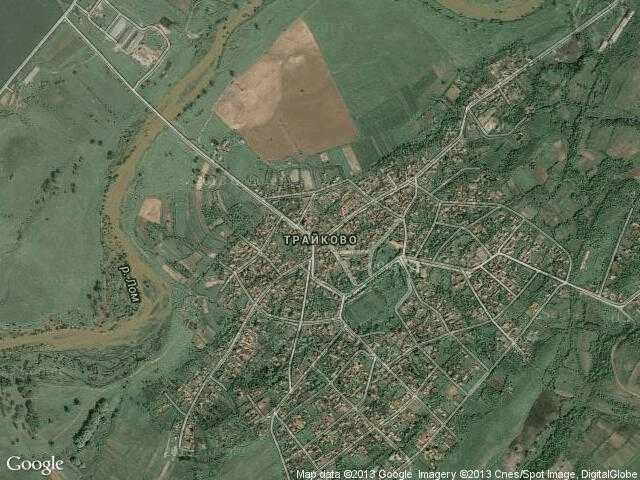 Сателитна карта на Трайково