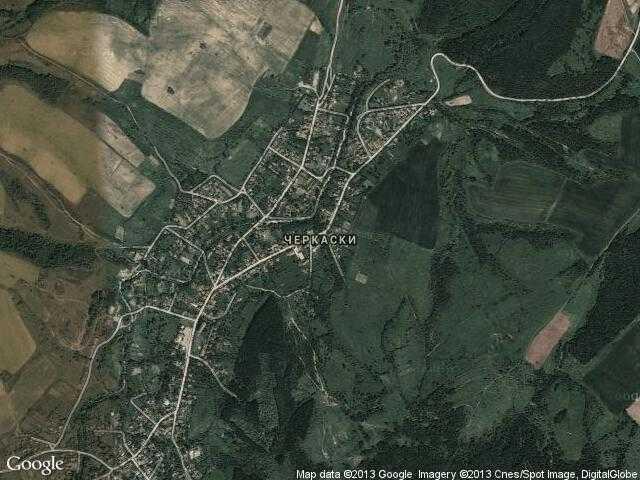 Сателитна карта на Черкаски