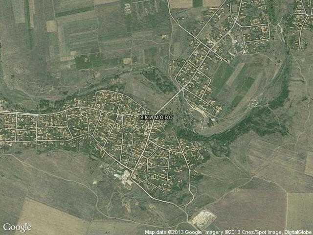 Сателитна карта на Якимово