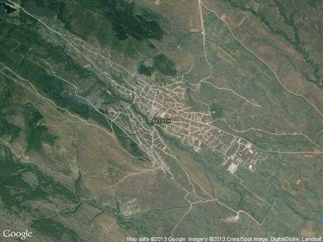 Сателитна карта на Ветрен