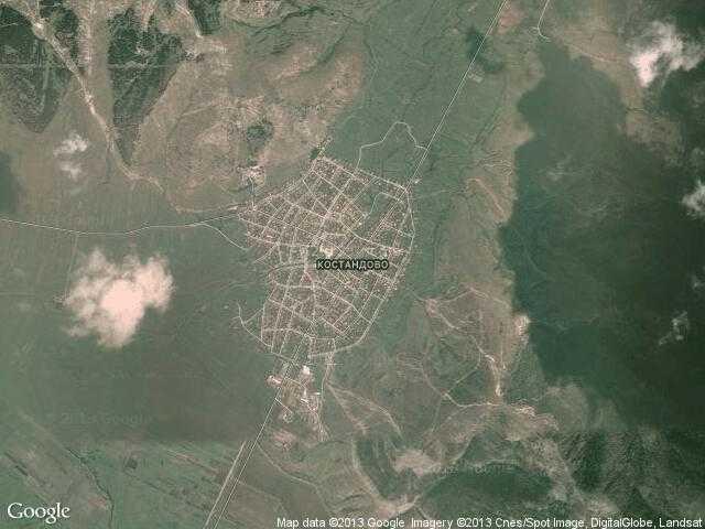 Сателитна карта на Костандово
