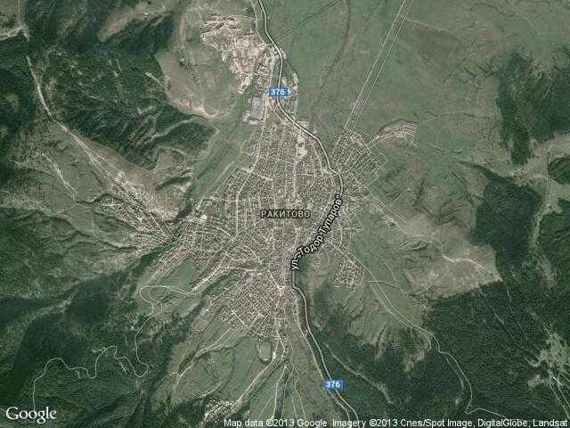 Сателитна карта на Ракитово
