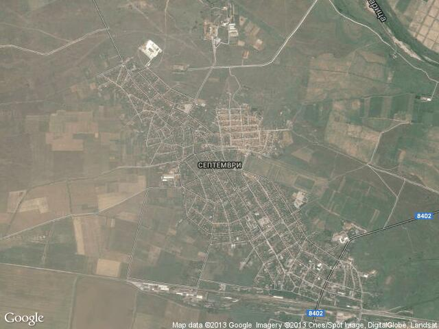 Сателитна карта на Септември