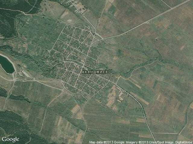 Сателитна карта на Аканджиево