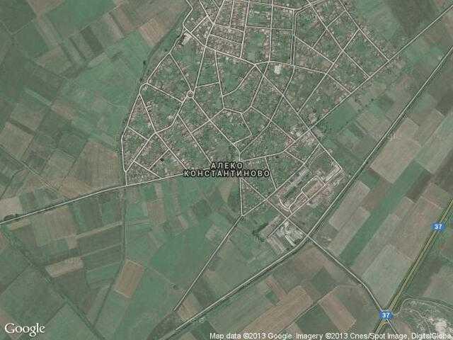 Сателитна карта на Алеко Константиново