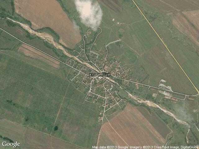 Сателитна карта на Априлци
