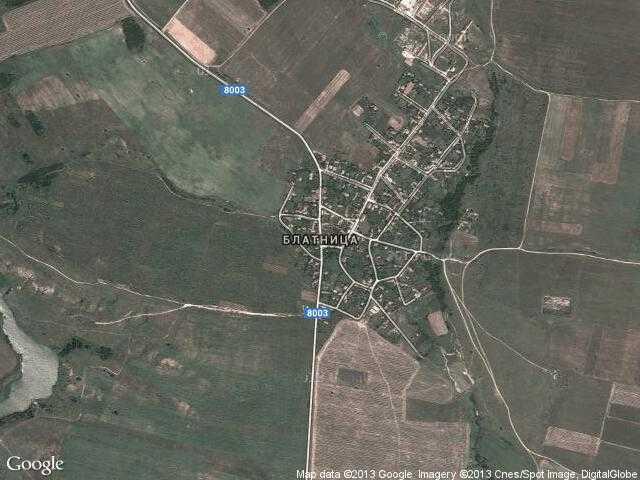 Сателитна карта на Блатница