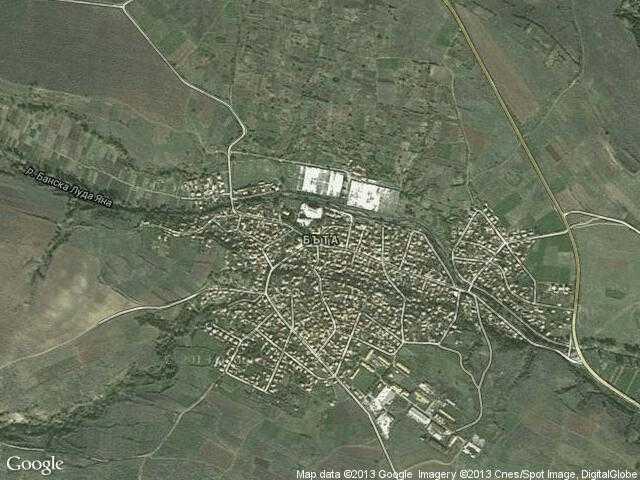 Сателитна карта на Бъта