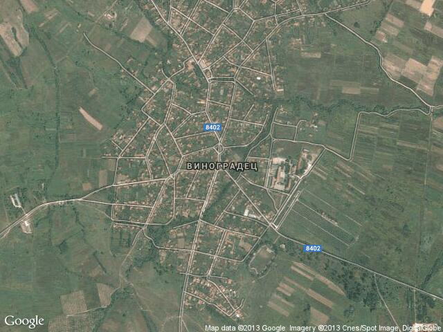 Сателитна карта на Виноградец