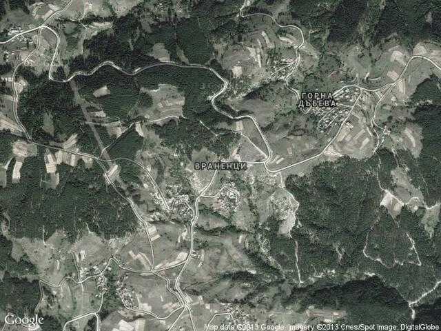 Сателитна карта на Враненци