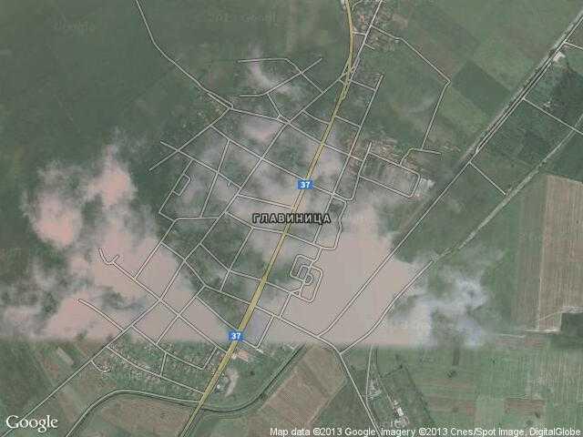 Сателитна карта на Главиница