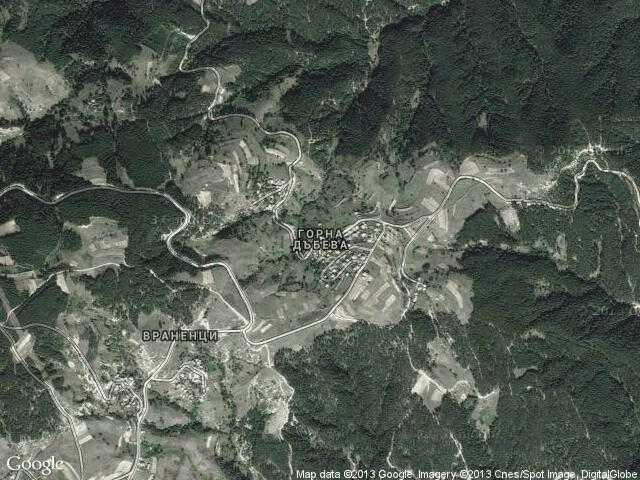 Сателитна карта на Горна Дъбева