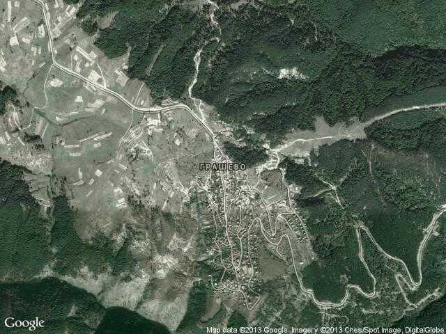 Сателитна карта на Грашево