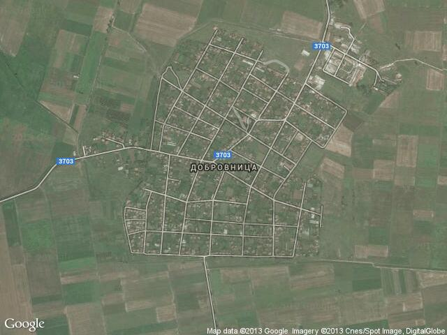 Сателитна карта на Добровница
