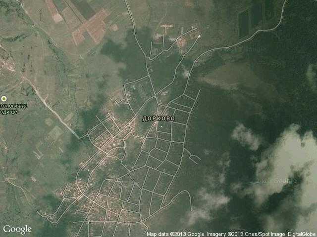 Сателитна карта на Дорково