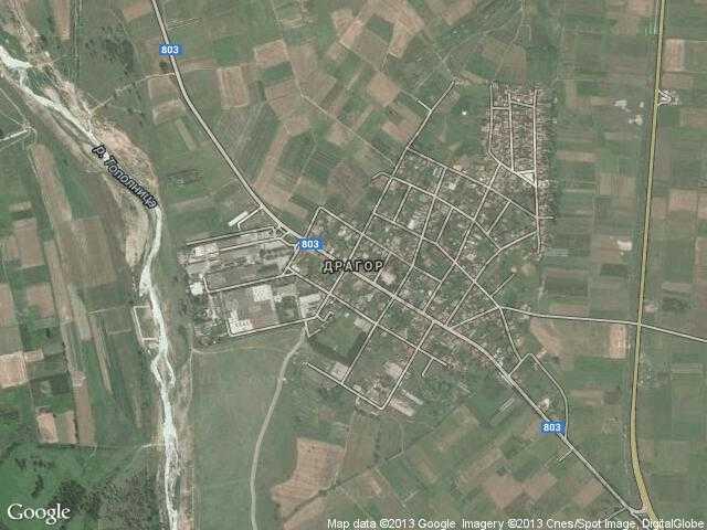 Сателитна карта на Драгор