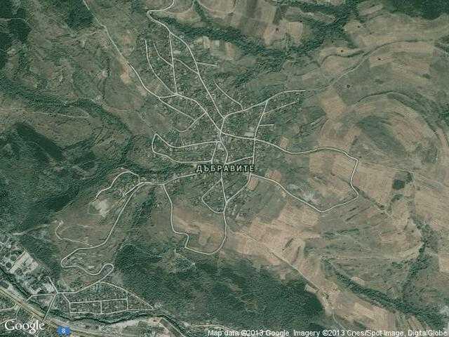 Сателитна карта на Дъбравите