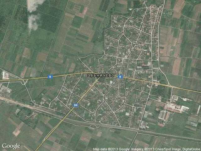 Сателитна карта на Звъничево