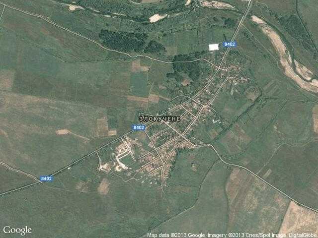 Сателитна карта на Злокучене