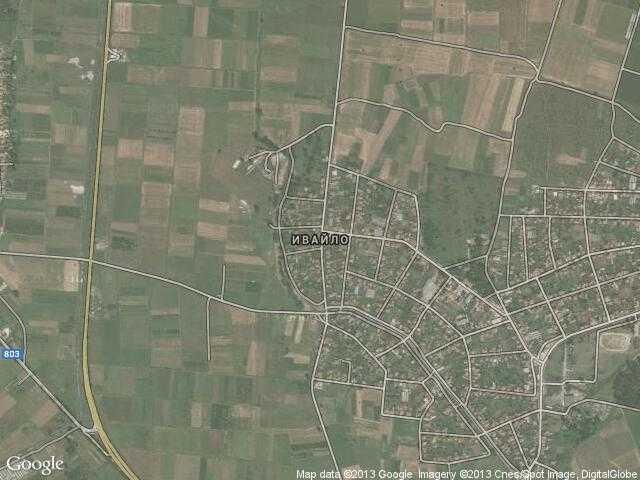 Сателитна карта на Ивайло