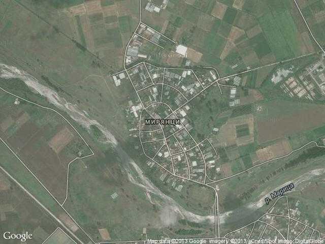 Сателитна карта на Мирянци