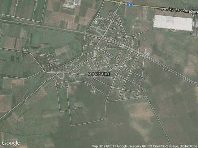 Сателитна карта на Мокрище