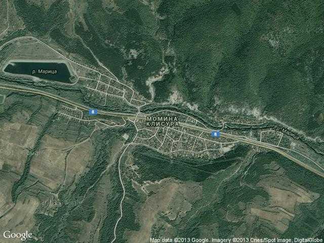 Сателитна карта на Момина клисура