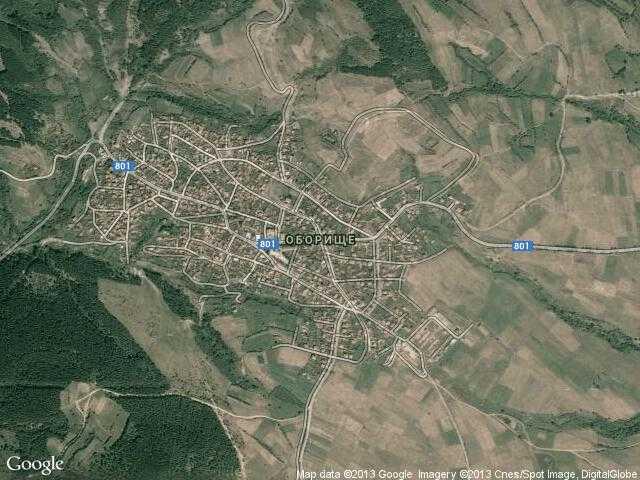 Сателитна карта на Оборище