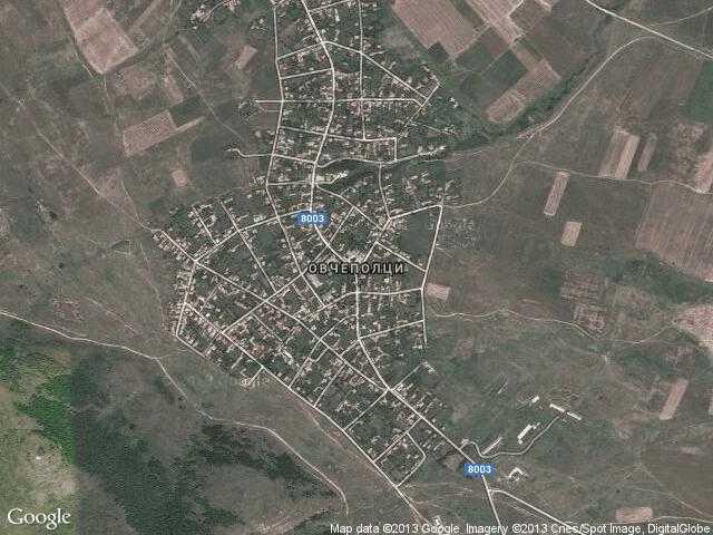 Сателитна карта на Овчеполци