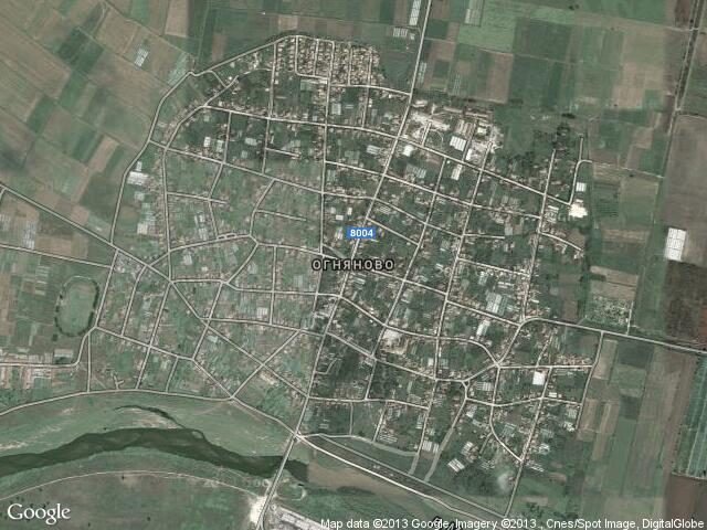 Сателитна карта на Огняново