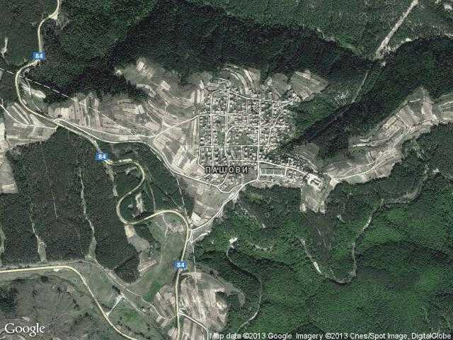 Сателитна карта на Пашови