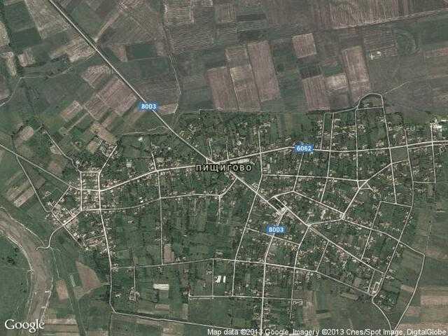 Сателитна карта на Пищигово