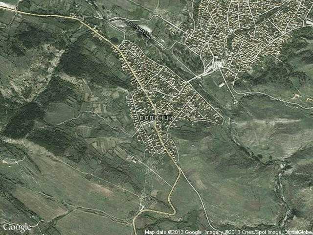 Сателитна карта на Попинци