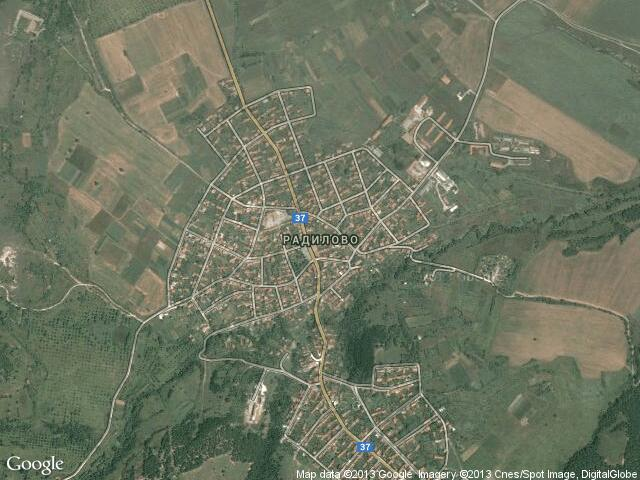 Сателитна карта на Радилово
