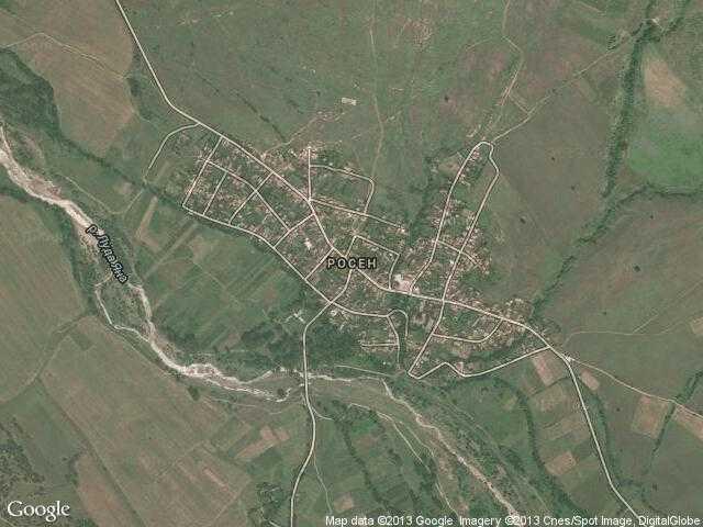 Сателитна карта на Росен