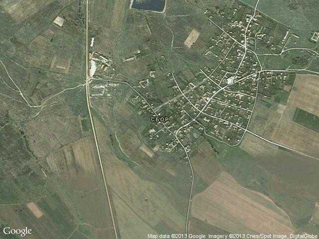 Сателитна карта на Сбор