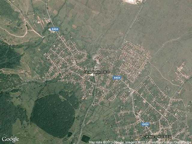 Сателитна карта на Семчиново