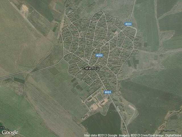 Сателитна карта на Смилец