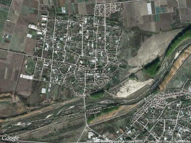 Сателитна карта на Хаджиево