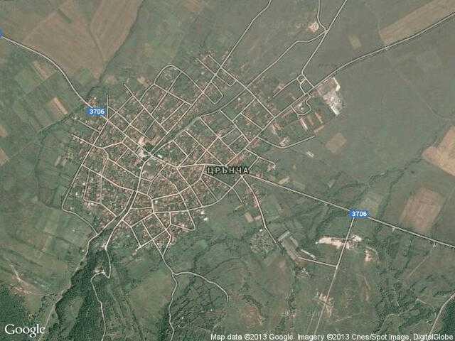 Сателитна карта на Црънча
